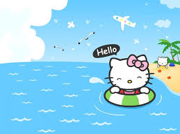 my free wallpapers cartoons wallpaper hello kitty beach