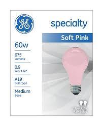 soft pink light bulbs ge soft pink light bulbs 97483 2 specialty a19 bulbs pack of 12
