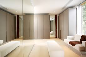 Aura Home Design Gallery Mirror by Interior Pretty Modern White And Grey Dressing Room Design
