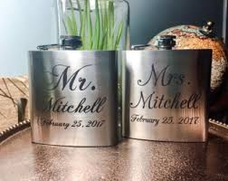 and groom flasks his and flasks etsy
