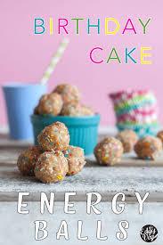 bake energy balls birthday cake protein bites vegan