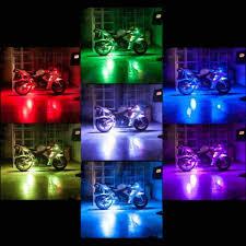 led strip lights for motorcycle audew motorcycle car van bike sportbike atv 8 strip rgb led kit