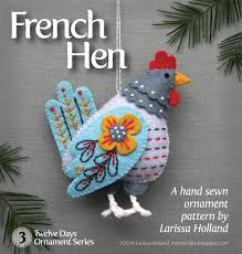 image result for three hens ornament holidays