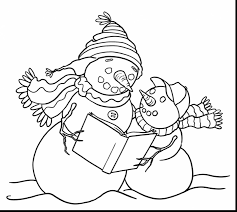 magnificent snowman family coloring pages with snowman coloring