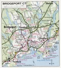 road map connecticut usa bridgeport road map
