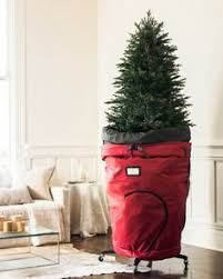 christmas tree storage use a large new garbage can with a lid and