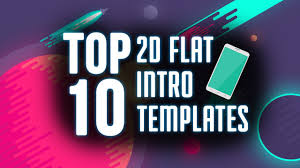 top 10 free 2d flat intro templates of 2015 2016 after effects