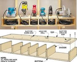 Storage Shelf Wood Plans by 91 Best Tool Charging Stations Images On Pinterest Workshop