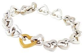 sterling heart bracelet images Tiffany co silver gold two tone sterling 18k open heart jpg