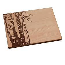 how to engrave a cutting board personalized cutting board birch trees handmade