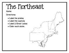 northeast united states map with states and capitals northeast region info by russ northeast states map