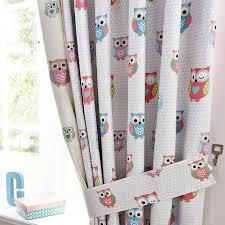 owl curtains for nursery home design ideas