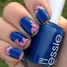 nail art with rose tulip jasmine flower design u2013 womenitems com