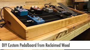 diy custom pedalboard from reclaimed wood
