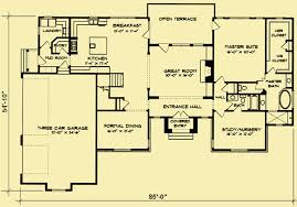 country floor plans country house plans for a 5 bedroom 4 bath home