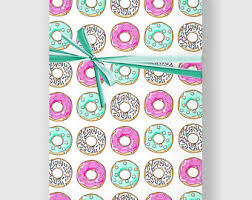 donut wrapping paper donut wrapping paper etsy