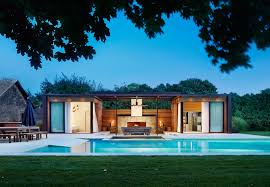 2 house with pool icrave mixes cedar and steel to create this modern htons pool