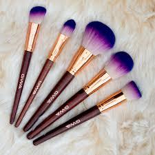 princess makeup brushes beautiful bright purple and rose gold