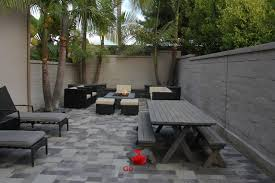 Backyard Patios With Fire Pits by Small Backyard Patio Fire Pit Planters Walls Project View 3
