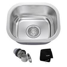 where are kraus sinks made kraus undermount stainless steel 15 in single bowl kitchen sink kit