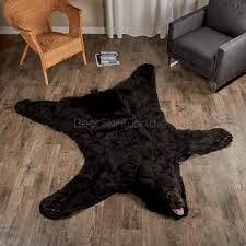 5 Foot Square Rug Decorate With Black Bear Rugs Bear Skin World