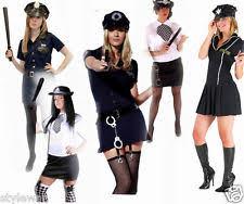 Womens Halloween Costumes Ladies Womens Futuristic Police Fancy Dress Costume Woman
