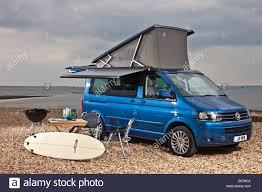 Vw Awning Blue Metallic Vw California Campervan With Optional Awning On