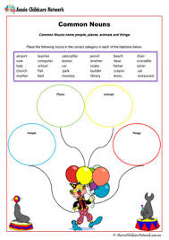 noun worksheets aussie childcare network