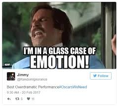 Glass Case Of Emotion Meme - best overdramatic performance academy awards know your meme