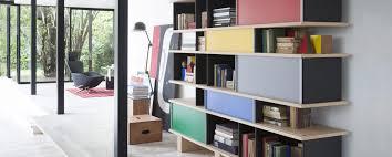 Contemporary Oak Bookcase Modular Bookcase Contemporary Oak Aluminum 526 Nuage