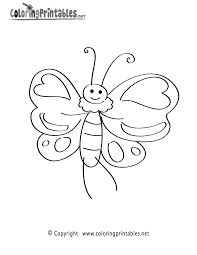 cartoon butterfly coloring free nature coloring printable