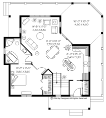 cottage floor plans fascinating one bedroom cottage floor plans collection with design