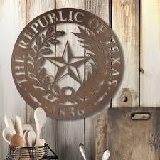 state of texas home decor republic of texas wall badge u2013 jdh iron designs