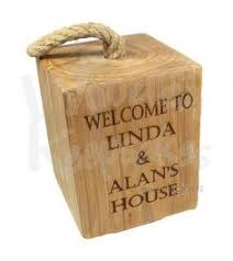 Personalized Wooden Gifts Personalised Oak Doorstop M I S C Pinterest Woods