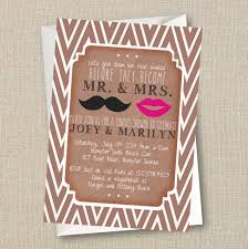 wedding couples shower invitation mustache u0026 lips mr and
