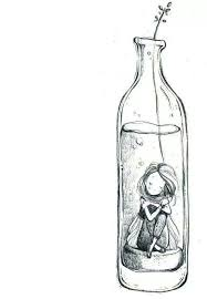 sketch v original drawing art pinterest bottle drawings