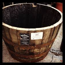 how to prepare half whiskey wine barrel planter our first cottage