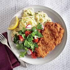 Pasta Recipes Crispy Chicken Cutlets With Butter Chive Pasta Recipe Myrecipes