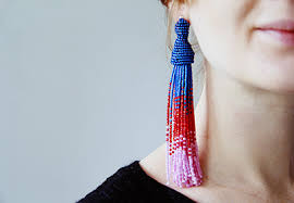 how to make clip on earrings how to make oscar de la renta inspired tassel earrings