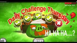 Challenge Angry Daily Challenge King Pig Panic No Completed In Angry Birds 2