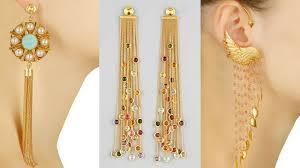 cuff earrings with chain chain earrings link ear cuff earrings