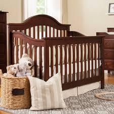 Convertible Crib Espresso Davinci 4 In 1 Convertible Crib In Espresso M5981q Free