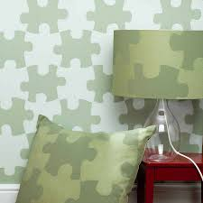 puzzle pieces wallpaper by paperboy wallpaper notonthehighstreet com