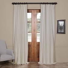 bellino cottage white 50 x 96 inch blackout curtain half price