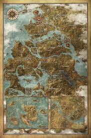 Skyrim World Map by The Witcher 3 Is Even Bigger Than You Think
