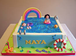 pool party cake beth flickr