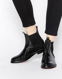 hudson womens boots sale hudson black leather chelsea ankle boots h by