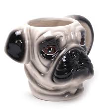 awesome pug 3d shaped mug u2013 pugland