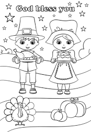 god bless you on thanksgiving day coloring page free printable
