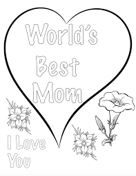 free printable mother u0027s day coloring pages 4 different designs